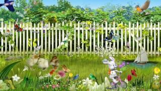 Лето в деревне и бабочки летают - Детский футаж бесплатно