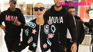 amber rose speaks on blac chyna s pregnancy with rob kardashian while shopping at the beverly center