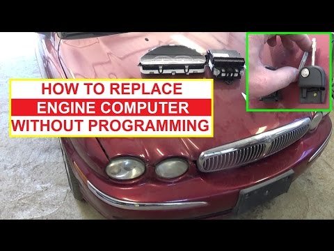 How to Replace the ECU Car Computer without Programming it Jaguar X TYPE 2001 2009 - 동영상