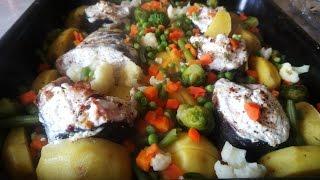 Запеченная рыба в духовке, пиленгас.