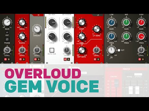 Overloud Gem Voice // Complete Vocal Production // Plugin AUDIO DEMOS // Vocal channel strip vintage