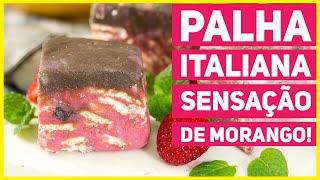Como fazer Palha Italiana de Sensação de Morango