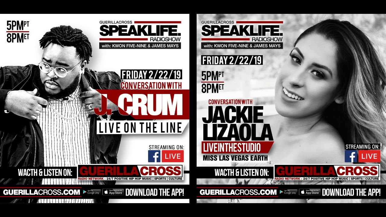 SPEAKLIFE Radio Show - J. Crum Interview - Plus Jackie Lizaola Live in the Studio