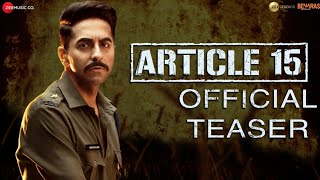 Ab farq LAAYENGE Article 15 official teaser with ayushmann khurana