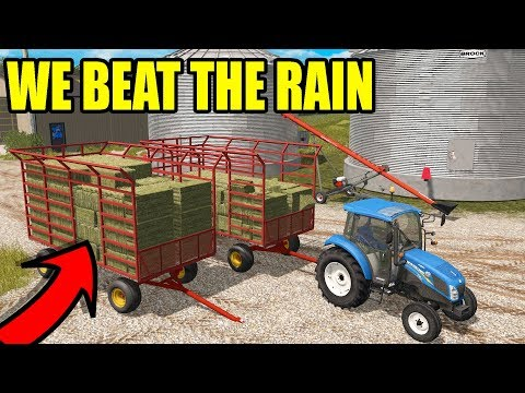 WE JUST MISSED THE RAIN! | WE FINISHED BALING | FARMING SIMULATOR 2017 | EP#41