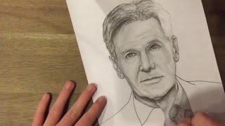 Han Solo/ Harrison Ford Speed Drawing