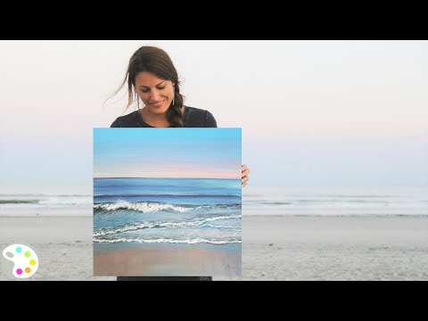 How to Paint in Acrylics | Ocean Painting Tutorial