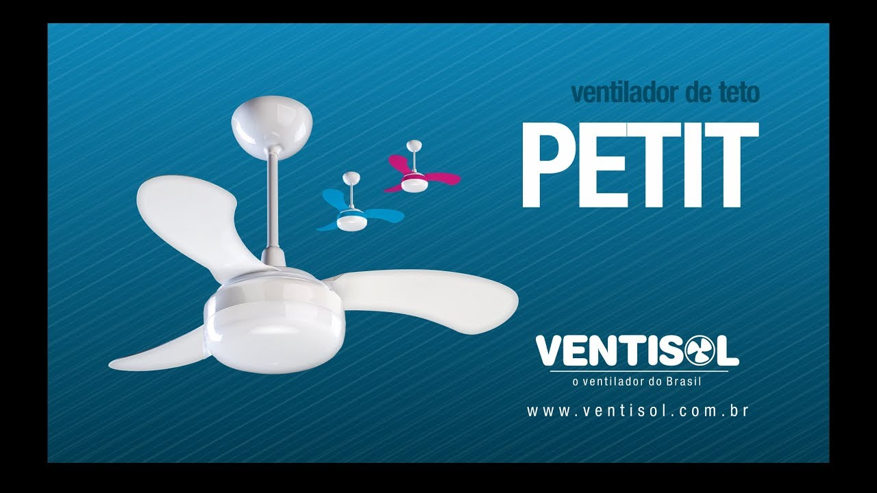 b51bc27a9 Ventilador de Teto Petit - YouTube
