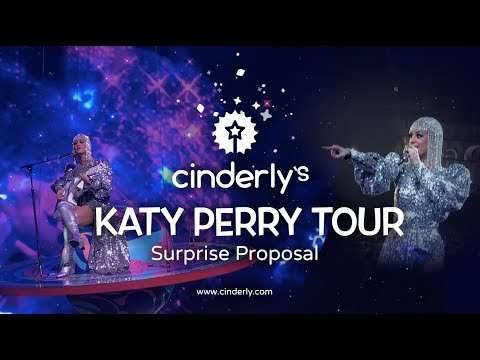 SURPRISE PROPOSAL! COUPLE ENGAGED ONSTAGE AT KATY PARY WITNESS TOUR BARCLAYS CENTER - CINDERLY