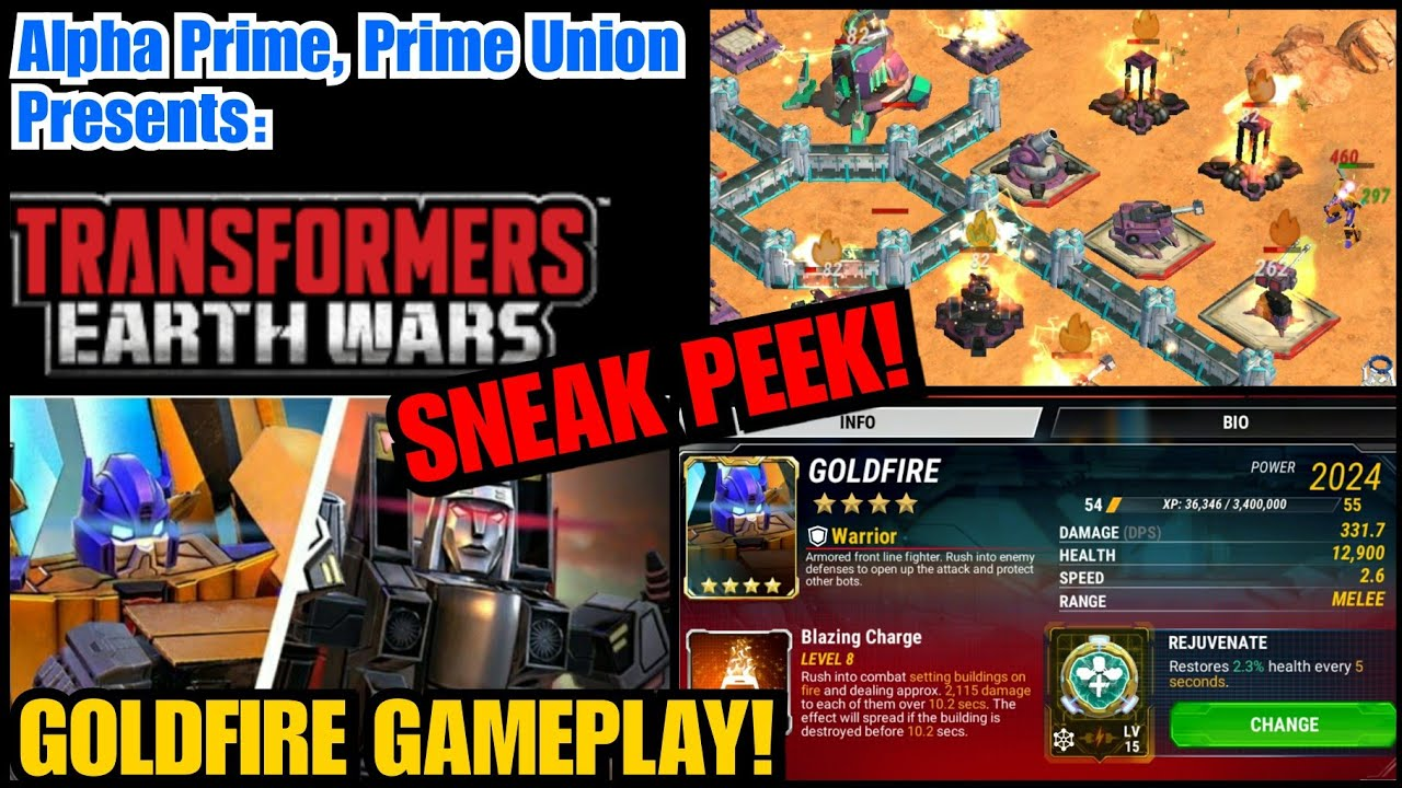 Sneak peek at Goldfire before the release! Tips and Gameplay  Transformers:  Earth Wars