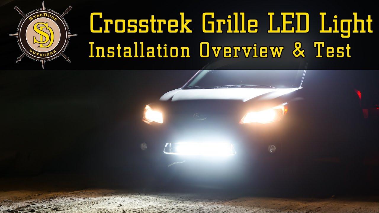 Subaru Crosstrek Review >> Subaru Crosstrek - Grille Mounted 23 Inch LED Lightbar Install Overview - YouTube
