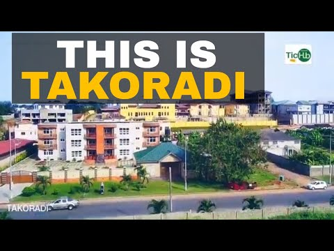 Takoradi Ghana beautiful from above - drone shots - Wode Maya Town