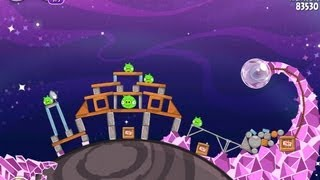Angry Birds Space Cosmic Crystals 7-22 Space Eagle Walkthrough