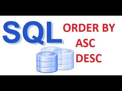 ORDER BY ASC-DESC