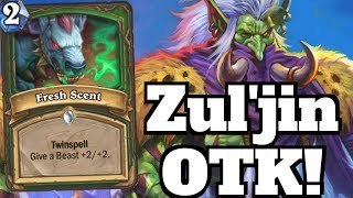 FRESH SCENT Buff Hunter OTK! Zul'jin Wombo Combo! [Hearthstone Game of the Day]