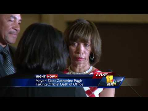 Video: Catherine Pugh takes oath of office as Baltimore mayor