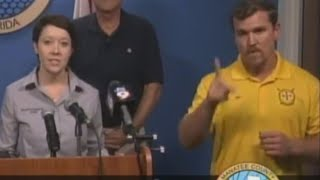 Sign Language Interpreter During Hurricane Irma Actually Communicated Gibberish thumbnail