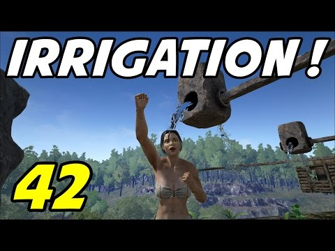 "ARK Survival Evolved - E42 ""Irrigation Pipes!"" (Gameplay / Playthrough / 1080p)"