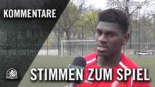 Mohamed Toure (Berliner AK 07) und Gökhan Senol (Füchse Berlin Reinickendorf) - Die Stimmen zu Spiel