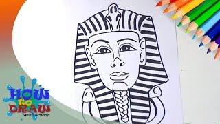 How to draw a Pharaoh   Como dibujar Faraón   Hoe teken je een Farao