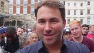 'YOU ASK ME THE QUESTIONS!' - EDDIE HEARN ANSWERS FAN'S QUESTIONS AT GOLOVKIN v BROOK WORKOUT