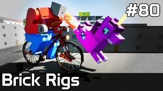 Brick Rigs PL [#80] ROWER & Jednorożec w MIEŚCIE ?! /z Plaga