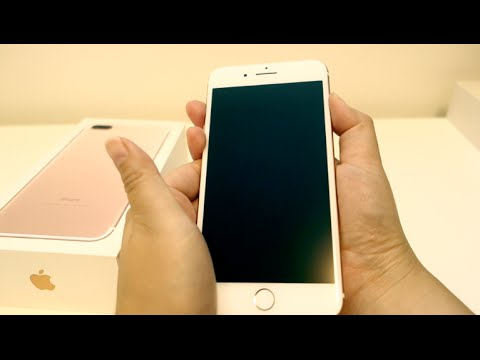 iphone 7 plus rose gold 128gb unboxing hands on vs 6 plus sea blue silicone case and tech. Black Bedroom Furniture Sets. Home Design Ideas