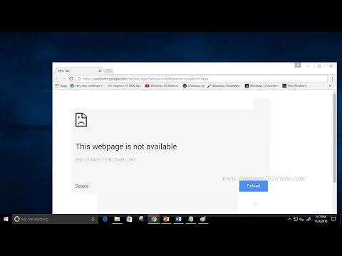 How To Fix Err Connection Timed Out In Google Chrome