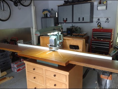 Edge-Jointing With A Radial Arm Saw