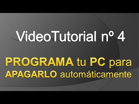 TPI - Videotutorial nº 4 - Cómo programar el apagado automático de vuestro PC