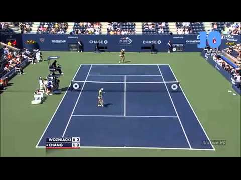 Caroline Wozniacki vs Kai-Chen Chang 2010 U.S Open Highlights