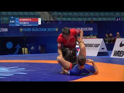 1/4 Men's GP No-Gi - 62 kg: B. ALYMBAYEV (KAZ) v. A. SHLOMO (ISR)