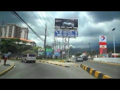 Driving in Jamaica  - Kingston to St  Mary  - Hope Pastures to Robert Schuman Roundabout