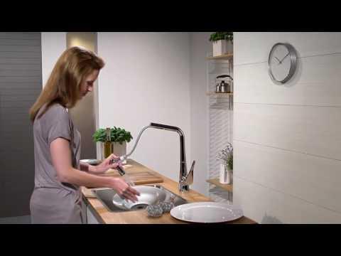 Однорычажный смеситель для кухни 320 с выдвижным душем, ½´ 14820000