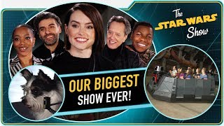 Download The Rise of Skywalker Cast, Galaxy's Edge, Giant Screen Gaming and Adorable Animals, Oh My! Mp3 and Videos