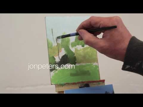 Art Lesson #13 -Intro to Painting - Class 4  Meadow at Bethel, Vermont