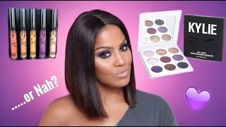 Kylie Cosmetics Purple Palette & Fall Lip Kits Review | Makeupshayla