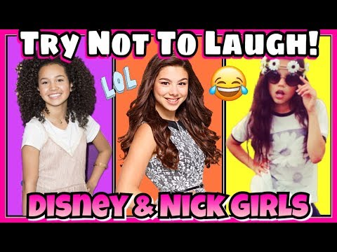Thumbnail: Try Not To Laugh Challenge Disney & Nickelodeon Girls Edition | The Funniest Musical.ly 2017