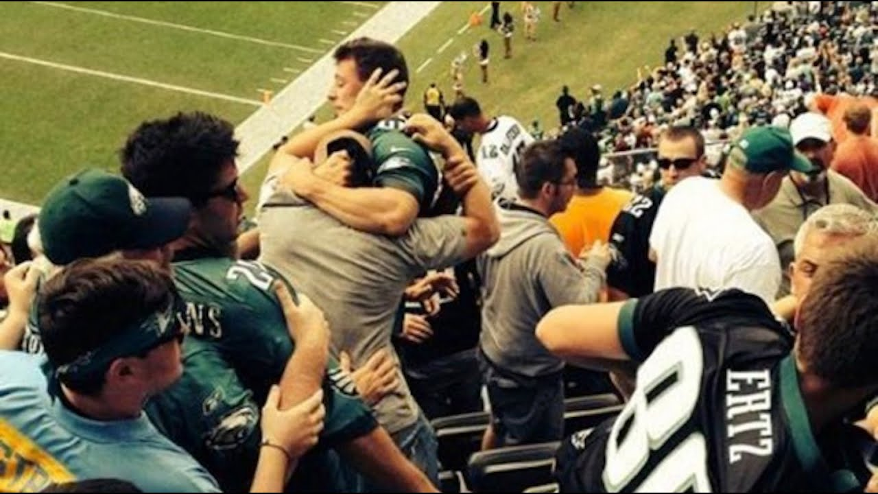 Image result for pictures of fighting eagles fans
