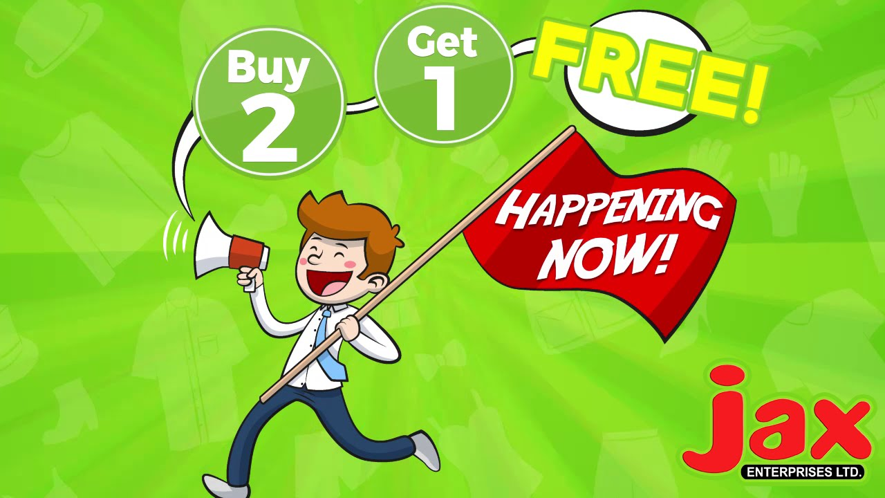 Jax may sale buy 2 get 1 free all clothing footwear for Buy 1 get 1 free shirts