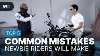 5 Common Mistakes Beginner Riders Make - Behind a Desk