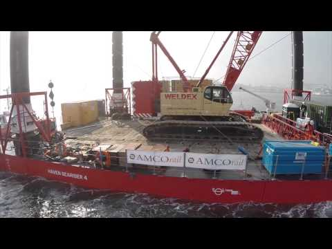 The Barge Filmed by Aerial Technics working for Amco Rail & Red7 Marine