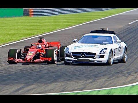 Ferrari F1 2018 vs Safety Car F1 - Monza