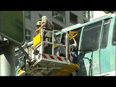 ABC News NSW - Sydney Monorail breaks down (24/9/2012)