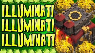 "Clash of Clans - ""ILLUMINATI BASE!"" CONFIRMED! 666 ILLUMINATI CLASH OF CLANS!"