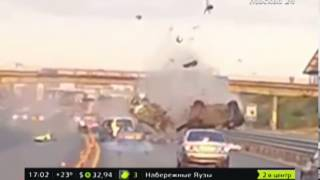 Новорижское шоссе авария 18 августа 2016 видео с регистратора