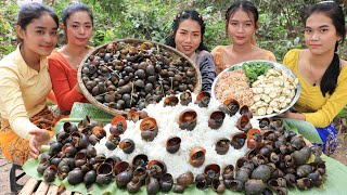 Cooking snail boiled with shrimp paste sauce recipe - Amazing video
