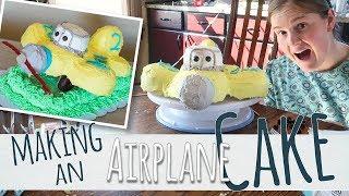 DIY Airplane Cake (vlog style)