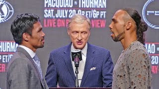 GAME ON! Manny Pacquiao vs. Keith Thurman FACE OFF before Press Conference | Boxing