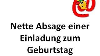 Nette Absage auf eine Einladung zum Geburtstag - Texte für E-Mails und Briefe - German Letters